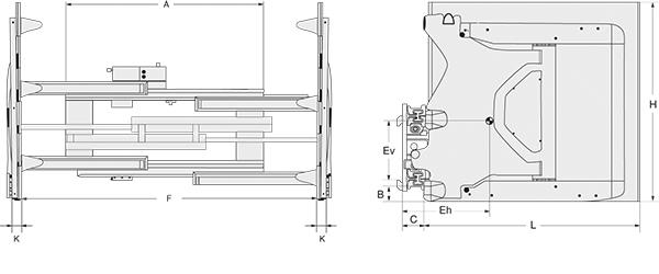 Modell 3-84 G (mit integriertem Seitenschub)