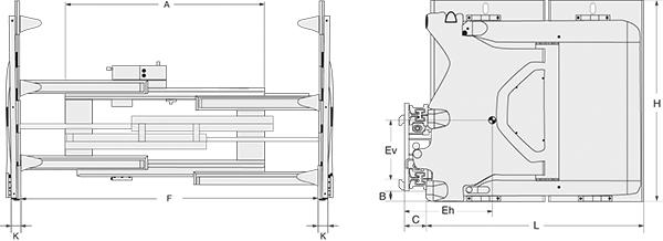 Modell 3-85 G (mit integriertem Seitenschub)