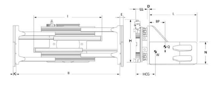 Modell 5-45 K, Schwerlast- und Containereinsatz