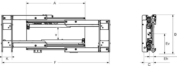 Modell 6-06 G (separater Seitenschub)