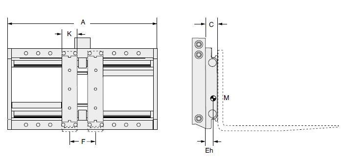 Modell 6-25 G-I/F-I (integrierter Seitenschub, integrierte Aufhängung)