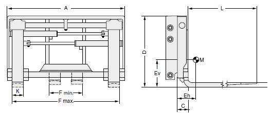 Modell 6-99H-ZI (integrierter Seitenschub, mit Anschweißzinken)