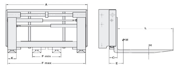 Modell 6-99H-Z (integrierter Seitenschub, mit Anschweißzinken)